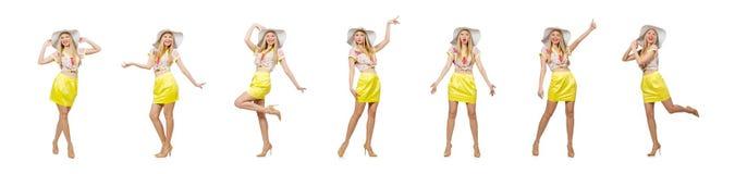 La jeune femme dans le concept de mode image libre de droits