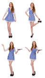 La jeune femme dans le concept de mode Photo stock