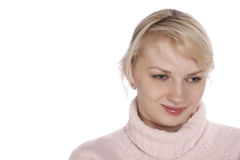 La jeune fille avec un beau sourire Photo libre de droits