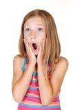 La jeune fille est effrayée. Image libre de droits