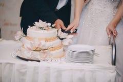 La jeune mariée dans un restaurant Image stock