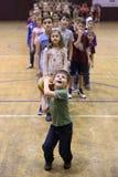 La joie de jouer le basket-ball Images libres de droits