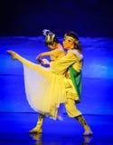 La joie de la lune de ballet de réunion-Hui au-dessus de Helan Images stock