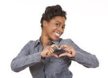 Signe de femme et de coeur Image libre de droits