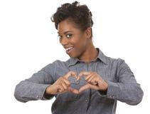 Signe de femme et de coeur Photo stock