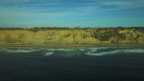 La Jolla Aerial Blacks Beach Paragliding stock footage