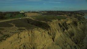 La Jolla Aerial Blacks Beach Paragliding stock video footage