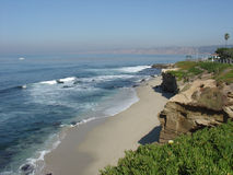 La Jolla Beach. View of a section of beach at La Jolla, California Royalty Free Stock Images