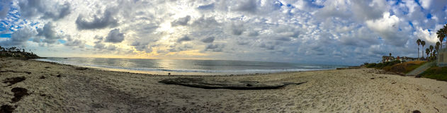 La Jolla Beach at Sunset Stock Photography