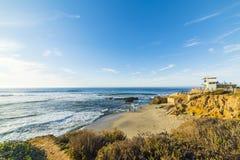 La jolla beach at sunset. San Diego, California royalty free stock image