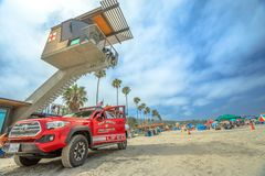 Lifeguard fire-rescue and tower royalty free stock image