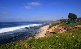 La Jolla Coast. Beach and cliffs of La Jolla, California, a popular travel destination in the US Royalty Free Stock Photos