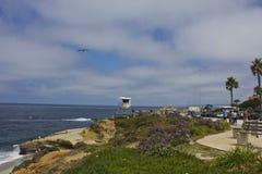 La Jolla coastline, San Diego. With its dramatic coastline and spectacular views, La Jolla is one of Californias most popular beach destinations in San Diego Royalty Free Stock Photo