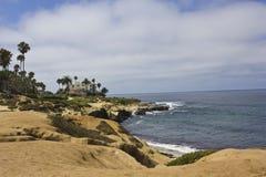 La Jolla coastline, San Diego. With its dramatic coastline and spectacular views, La Jolla is one of s most popular beach destinations in San Diego. Palms, sea Stock Photos