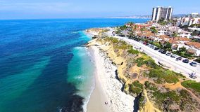 La Jolla Cove. This is an aerial photo of La Jolla Cove, San Diego California royalty free stock image
