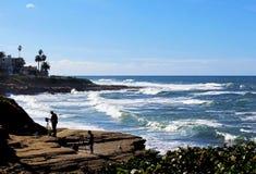 La Jolla Cove Landscape, San Diego stock photo