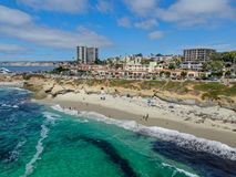 Free La Jolla Cove, Small Picturesque Cove And Beach Surrounded By Cliffs Stock Photo - 156739920