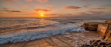 La Jolla Cove Sunset Royalty Free Stock Photography