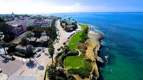 La Jolla Cover. Aerial shot of La Jolla Cove in San Diego Stock Photos