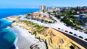 La Jolla Cover. This is a aerial view of La Jolla Cove Stock Photo