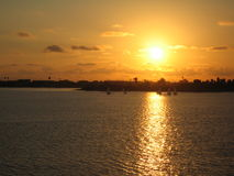 La Jolla en la puesta del sol - San Diego Fotos de archivo libres de regalías