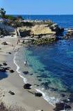 La Jolla klippor i Kalifornien Royaltyfri Foto