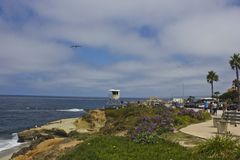 La Jolla kustlinje, San Diego Royaltyfri Foto