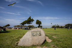 La Jolla. Memorial stone, Abraham Lincoln, La Jolla, California Royalty Free Stock Photo