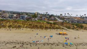 La Jolla Palisades Park, San Diego aerial view royalty free stock photo