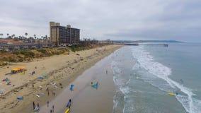 La Jolla Palisades Park, San Diego aerial view stock image