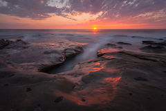 La Jolla San Diego. Sunset in La Jolla, San Diego stock photography