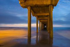 La Jolla. The Scripps Pier in La Jolla San Diego , California royalty free stock image