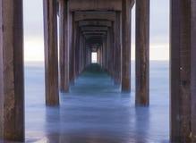 La Jolla. The Scripps Pier in La Jolla San Diego , California stock photo