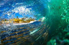 La Jolla Shorebreak. A large shorebreak wave at Windansea, La Jolla, CA Stock Photos