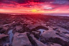 La Jolla solnedgång Fotografering för Bildbyråer