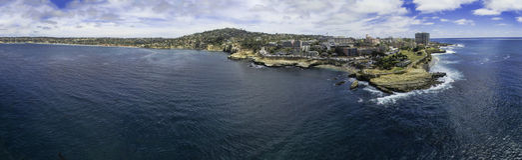 La Jolla stöttar panorama- Royaltyfria Foton