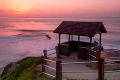 La Jolla Sunset. Enjoying the sunset at Shell Beach in La Jolla, California stock photography