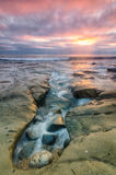 La Jolla Tide Pools. The tide pools in La Jolla, CA just outside San Diego, at sunset royalty free stock photo