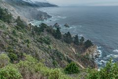 Diversity Graces the Coastal Landscape of California. From La Jolla to Carmel you will find this State`s display of Nature some of the most inspiring anywhere in Royalty Free Stock Photography