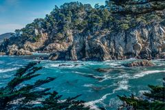 Diversity Graces the Coastal Landscape of California. From La Jolla to Carmel you will find this State`s display of Nature some of the most inspiring anywhere in Royalty Free Stock Photos