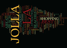 La Jolla Travel Guide Word Cloud Concept Royalty Free Stock Image
