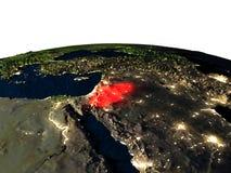 La Jordanie de l'espace la nuit illustration stock