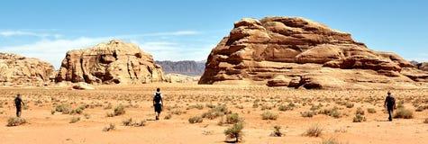 La Jordanie - rhum de Wadi Photos stock