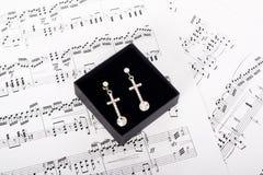 La joyería es la música para una mujer Imágenes de archivo libres de regalías