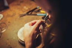 La joyería hecha a mano Foto de archivo libre de regalías