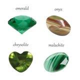 La joyería realista de las gemas del vector empiedra la colección Aislado en el fondo blanco Fotos de archivo libres de regalías