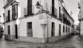 La Juderia区在科多巴,西班牙 免版税库存照片