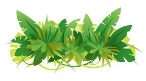 La jungle verte laisse la composition illustration libre de droits