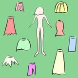La jupe de la femme de garde-robe. Photos stock