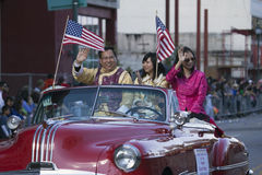 La-Kamer President Chester Chong, 115ste Gouden Dragon Parade, Chinees Nieuwjaar, 2014, Jaar van het Paard, Los Angeles, Californ Stock Foto's